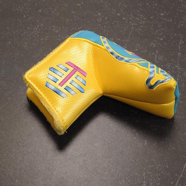 Bettinardi Carbon Skull and Bones yellow/blue - Headcover blade
