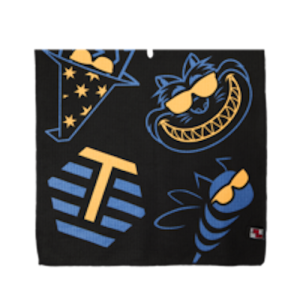 Bettinardi Multi-icon Players Towel - Blue/Orange